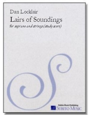 Lairs of Soundings triptych for soprano & double string orchestra
