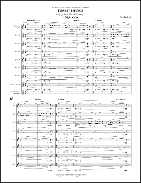 Forest Pipings for flute ensemble - Click Image to Close