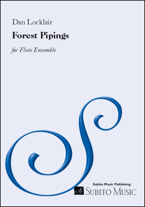 Forest Pipings for flute ensemble