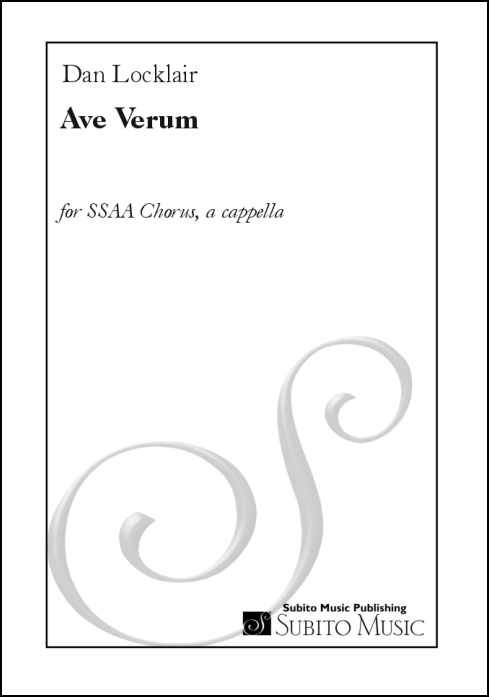 Ave Verum for SSAA chorus, a cappella