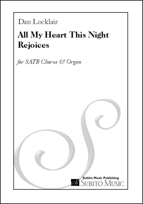 All My Heart this Night Rejoices for SATB chorus & organ