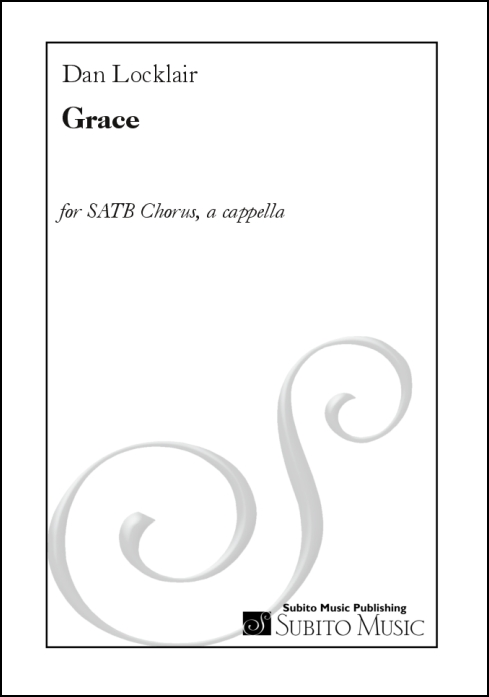Grace for SATB chorus, a cappella