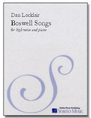 Boswell Songs, The song cycle for high voice & piano