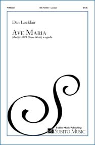 Ave Maria motet for SATB chorus (divisi), a cappella