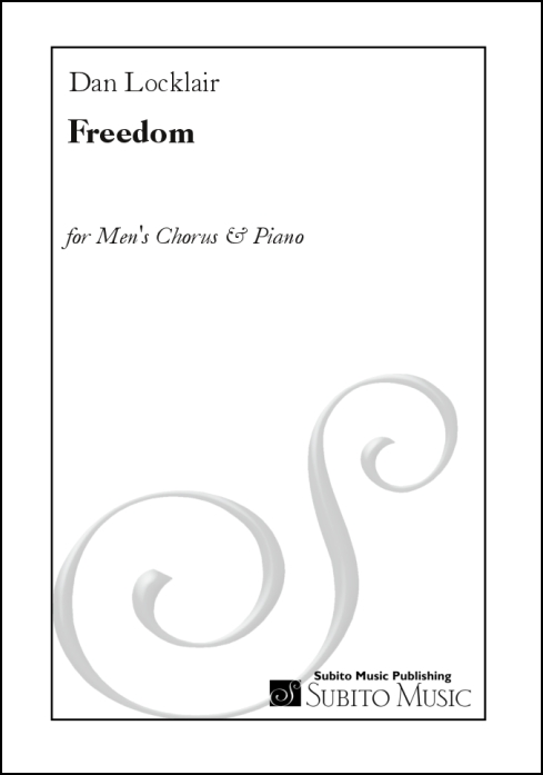 Freedom for men's chorus & piano