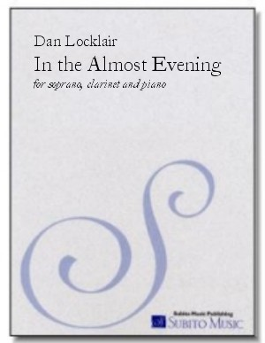 In the Almost Evening nocturne for soprano, clarinet & piano - Click Image to Close