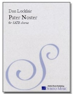 Pater Noster motet for SATB chorus (divisi), a cappella