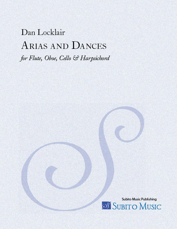 Arias and Dances for flute, oboe, cello & harpsichord