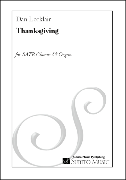 Thanksgiving anthem for SATB chorus & organ