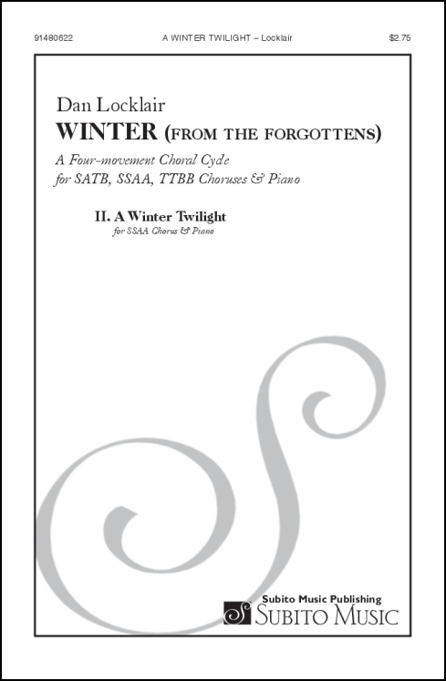 A Winter Twilight (from Winter for the Forgottens) for SSAA Chorus & Piano