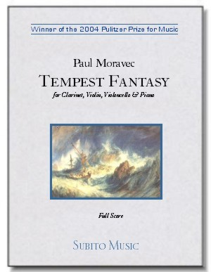 Tempest Fantasy for clarinet, violin, cello & piano [set of parts] - Click Image to Close