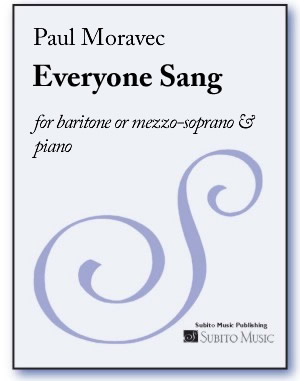 Everyone Sang for baritone or mezzo-soprano & piano