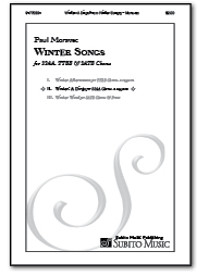 Winter Wind (from Winter Songs) for SATB Chorus & Piano