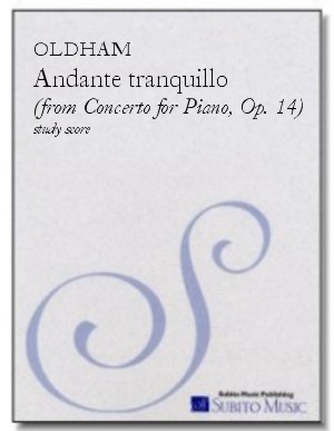 Andante Tranquillo ( from Concerto for Piano, Op. 14 ) for piano & orchestra