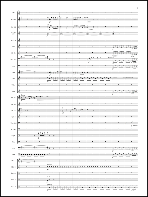Alegría transcribed for wind ensemble by Mark Scatterday