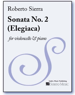 Sonata No. 2, Elegiaca for violoncello & piano