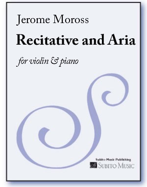 Recitative and Aria for violin & piano