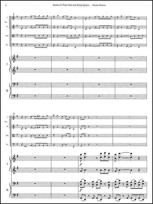 Sonata for Piano Duet & String Quartet - Click Image to Close