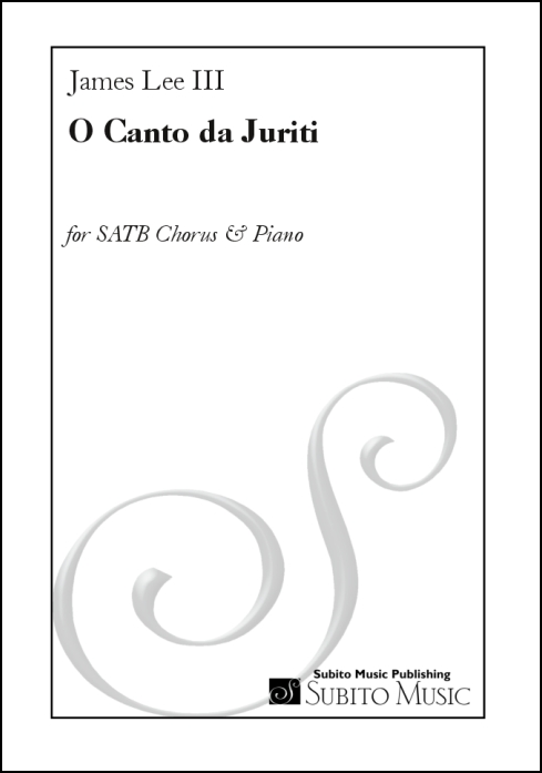 O Canto da Juriti for SATB chorus & piano