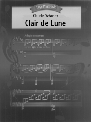 Clair de Lune for piano