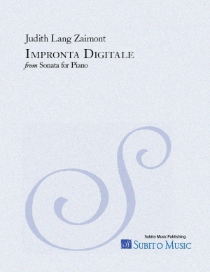 Impronta Digitale from SONATA for piano