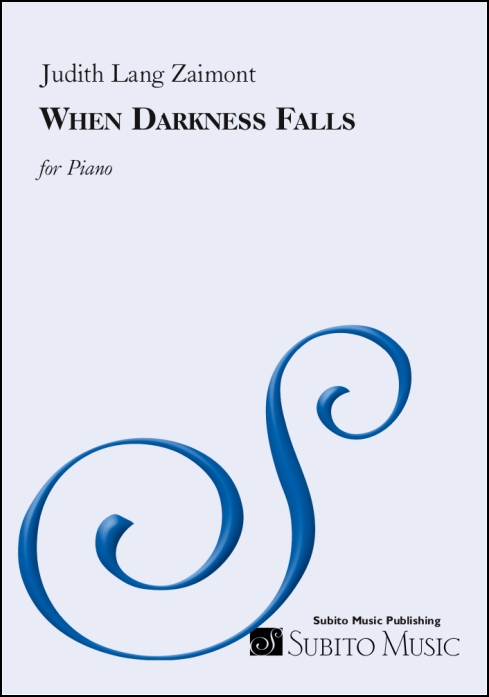 When Darkness Falls for Piano - Click Image to Close