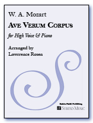Ave Verum Corpus for High Voice & Piano