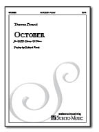 October for SATB Chorus & Piano