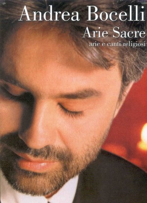 ANDREA BOCELLI: SACRED ARIAS matching folio for voice & piano