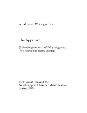 Approach, The three songs for soprano & string quartet