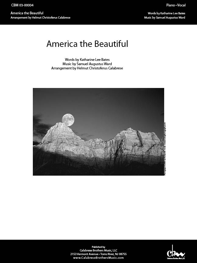 America The Beautiful for Voice & Piano