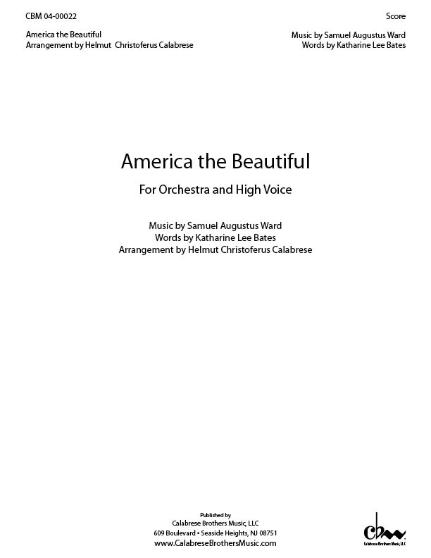 America The Beautiful for Voice & Orchestra