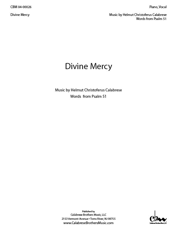 Divine Mercy for Piano, Vocal