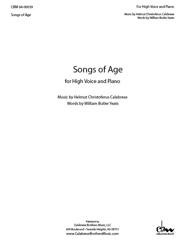 Songs of Age for Voice & Piano