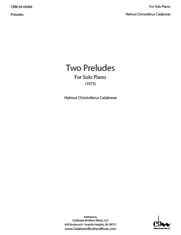 Two Preludes for Piano