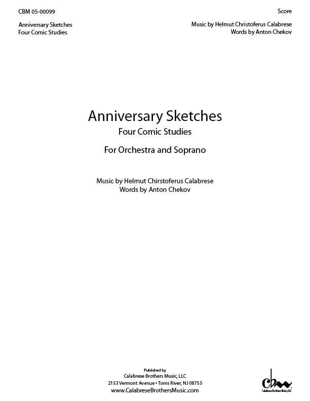 Anniversay Sketches for Soprano & Orchestra