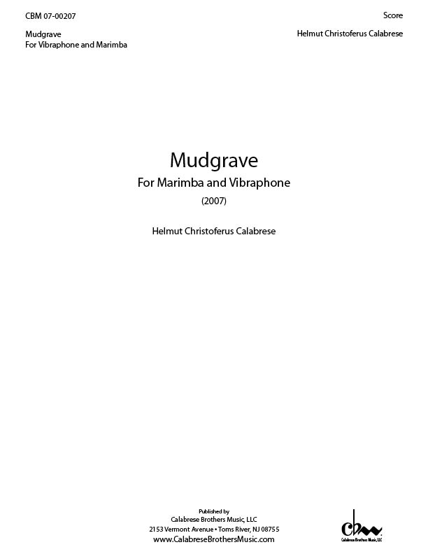 Mudgrave for Marimba & Vibraphone - Click Image to Close