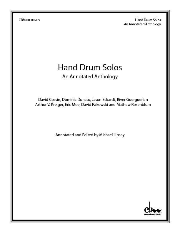 Hand Drum Solos (CD) for Hand Drum Solos & Electronic sounds
