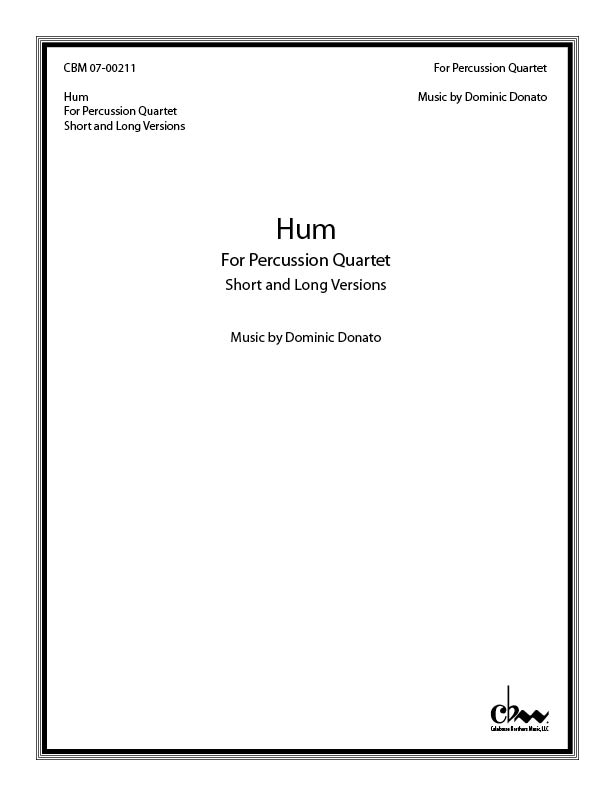 Hum for Percussion Quartet (gongs & hi-hats)