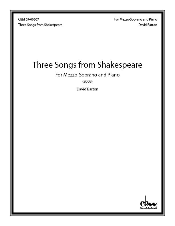 Three Songs from Shakespeare for Mezzo-Soprano & Piano