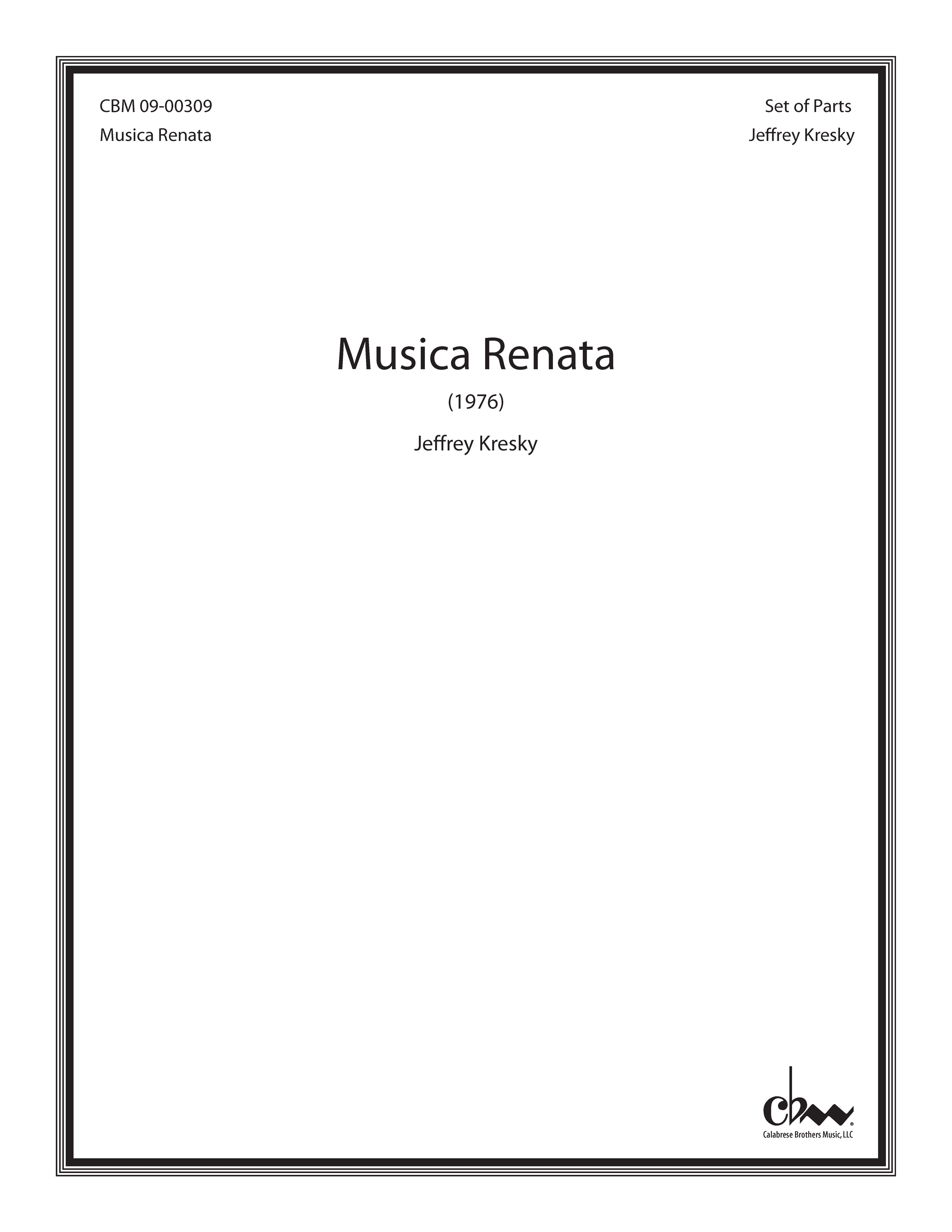 Musica Renata for Percussion Ensemble
