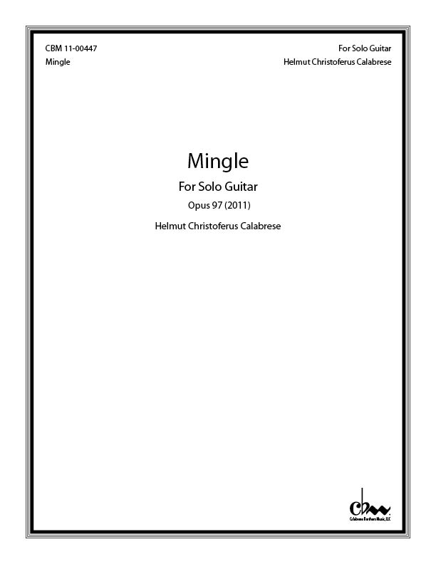 Mingle: For Solo Guitar for Guitar