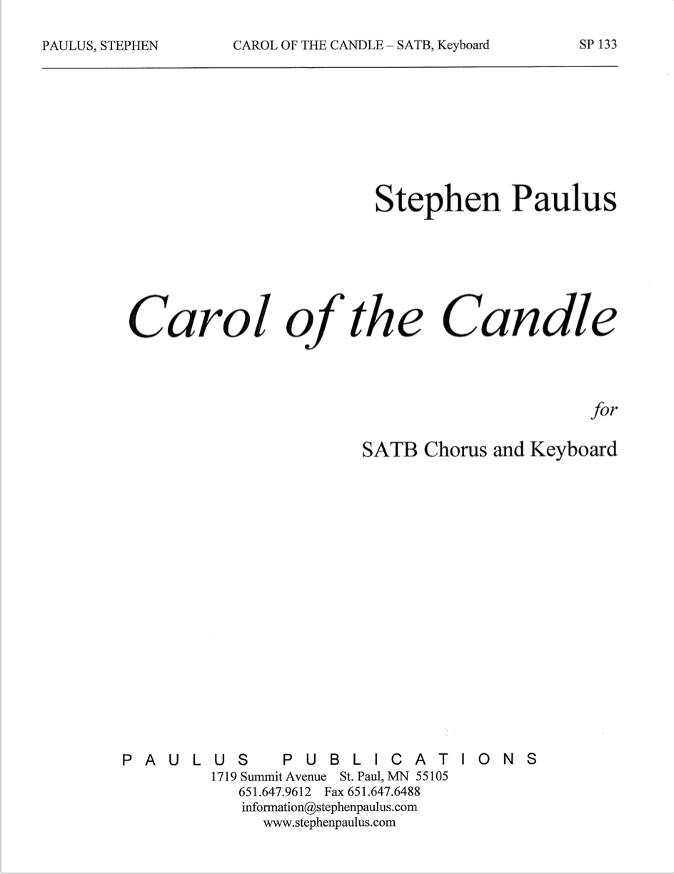 Carol of the Candle for SATB Chorus &Keyboard