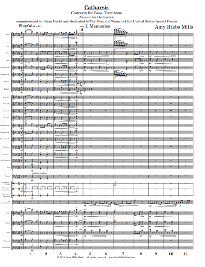 Catharsis Concerto for Bass Trombone (Version with Orchestra)