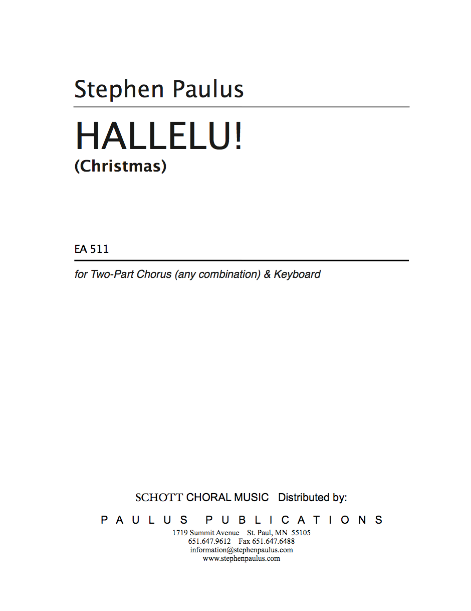 Hallelu! for 2-Part Chorus (any voicing) & Keyboard