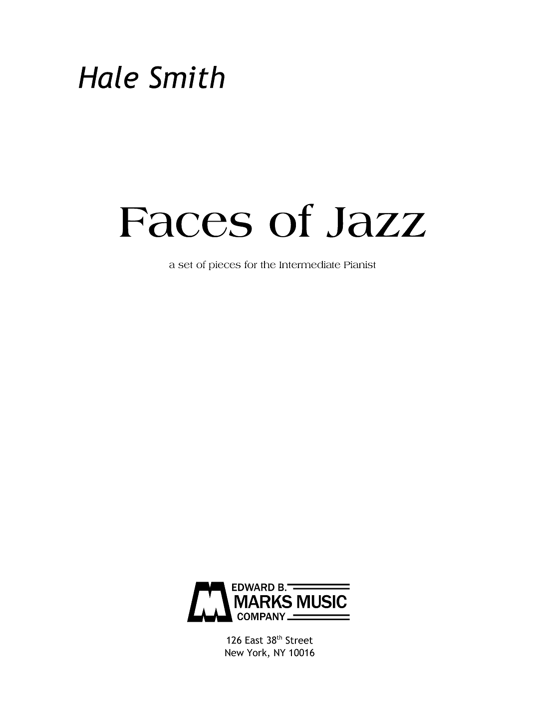 Faces of Jazz for Piano