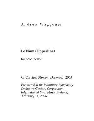 Le Nom (Upperline) for solo cello