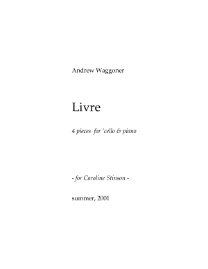 Livre four pieces for cello & piano