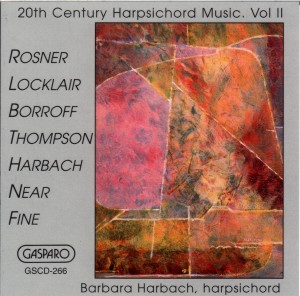 20th Century Harpsichord Music, Vol II [CD] - Click Image to Close