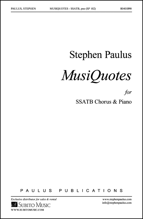 MusiQuotes for SSATB Chorus & Piano